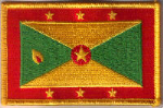 Grenada Embroidered Flag Patch, style 08.